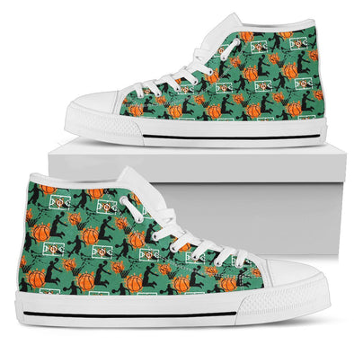 Basketball Hi-Top Pattern Shoes (Green)