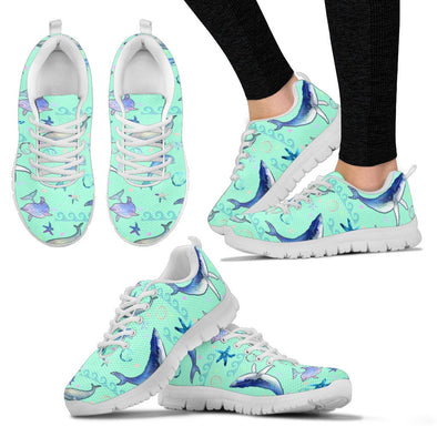 Dolphin Pattern Sneakers (Mint)
