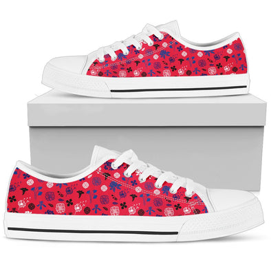 Buffalo Floral Pattern Low Tops