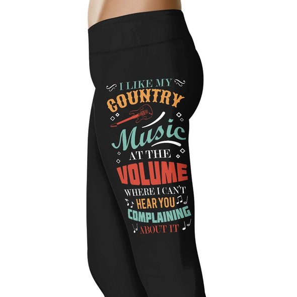 I Like My Country Music - Country Love Leggings