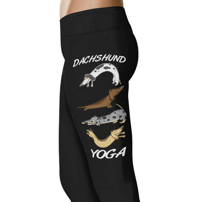 Dachshund Yoga - Yoga Leggings