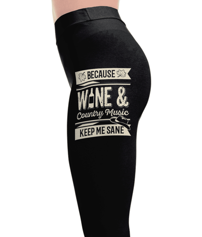 Wine And Country - Country Love Leggings - Country Love Leggings