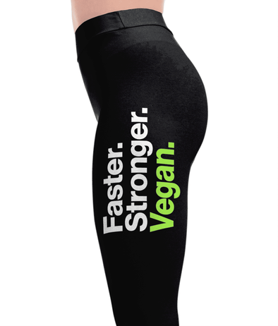 Faster Stronger - Vegan Leggings