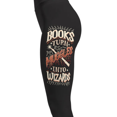 Books Turn Muggles Into Wizards - Magical Leggings