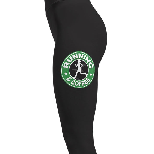 Running and Coffee - Running Leggings