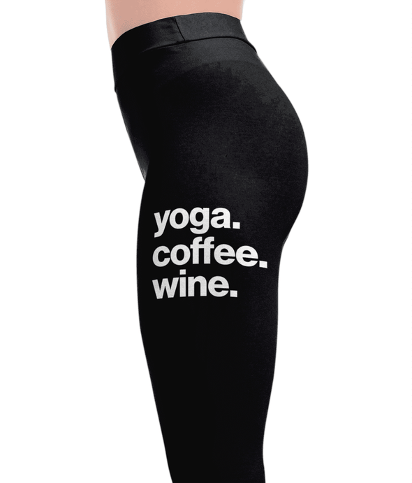 Yoga Coffee Wine Leggings