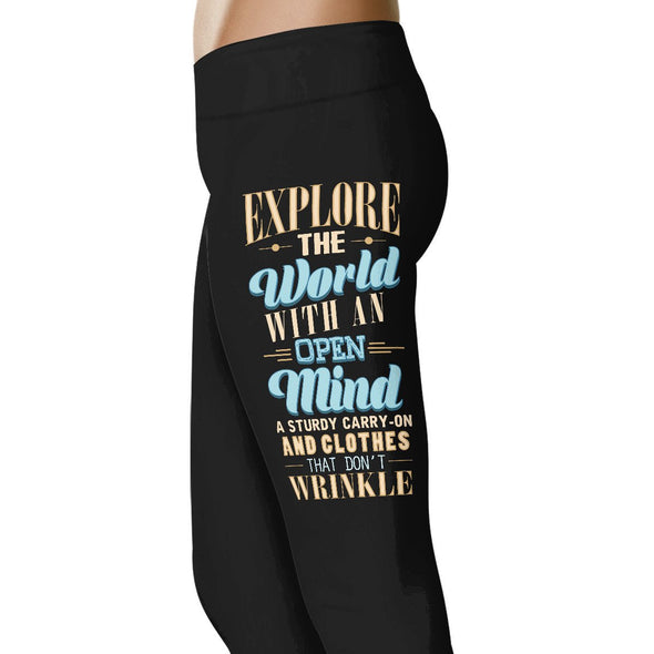 Explore The World With An Open Mind - Travel Leggings