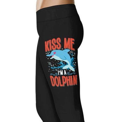 Kiss Me I'm A Dolphin - Dolphin Leggings