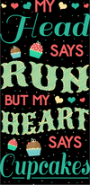 My Head Says Run But My Heart - Running Leggings