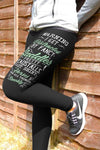 Warning I get distracted - Barrel Racing Leggings