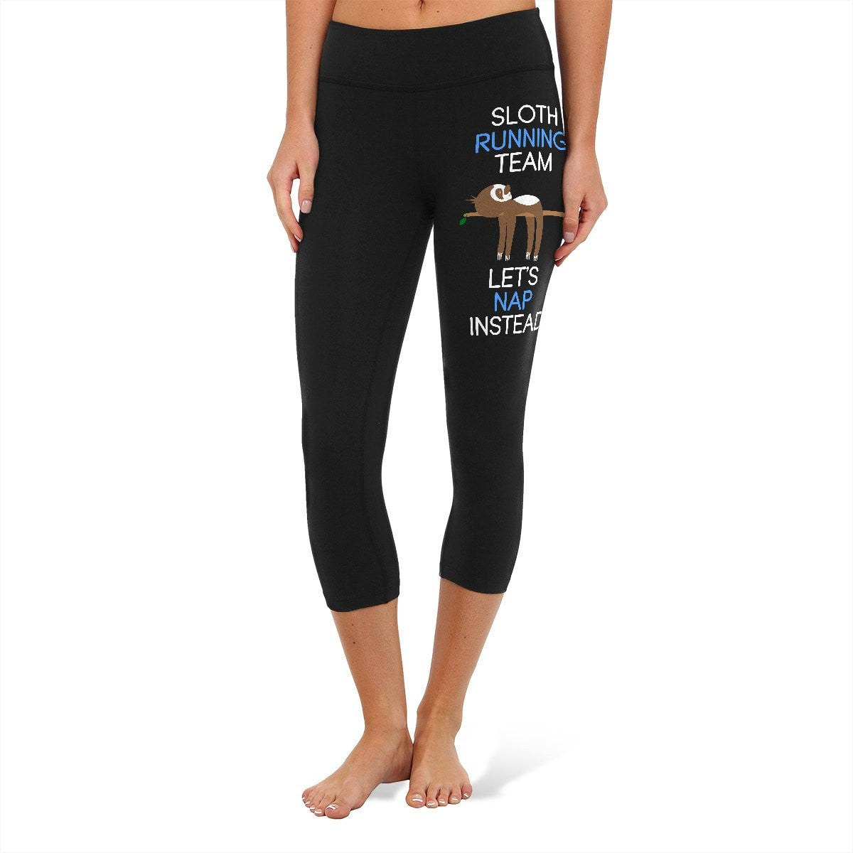 5b53958e824c7a Sloth Running Team - Fitness and Wit Leggings – YouStatement ...