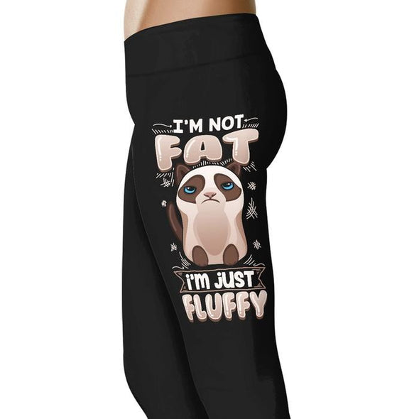 Im not fat I'm just fluffy - Cat Leggings