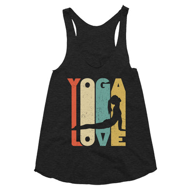 Yoga Love - Women's Tri-Blend Racerback Tank