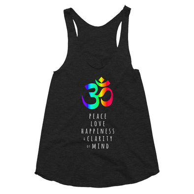 Peace Love Happiness - Women's Tri-Blend Racerback Tank