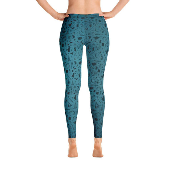 HP Teal Icons Spandex Leggings