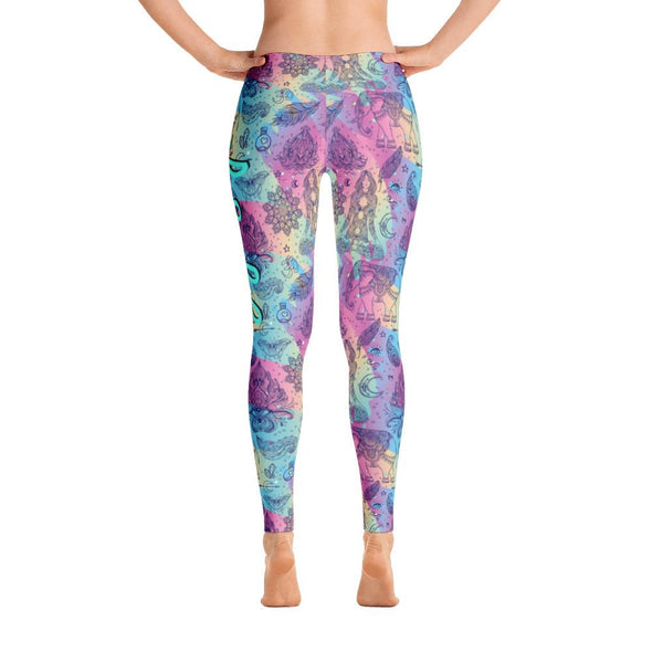 Yoga Is Life Polyester Spandex Leggings