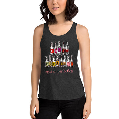 Aged To Perfection - Women's Tri-Blend Racerback Tank
