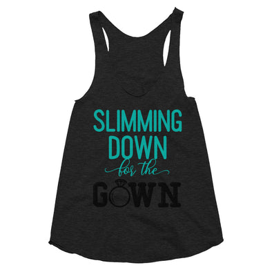 Slimming Down for the Gown - Women's Tri-Blend Racerback Tank