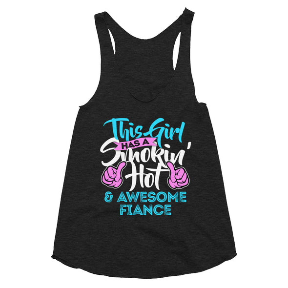Awesome Fiance - Women's Tri-Blend Racerback Tank