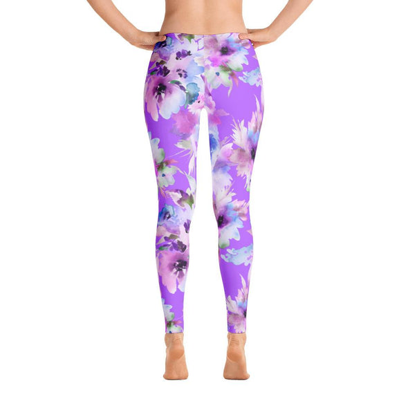 Purple Passion Polyester Spandex Leggings