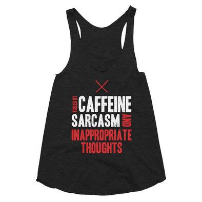 Inappropriate Thoughts - Women's Tri-Blend Racerback Tank
