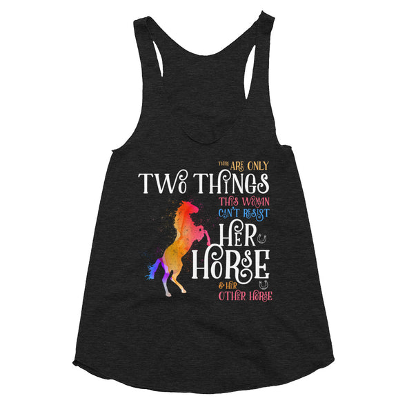 Two Things - Women's Tri-Blend Racerback Tank