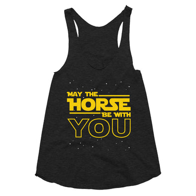 May The Horse - Women's Tri-Blend Racerback Tank