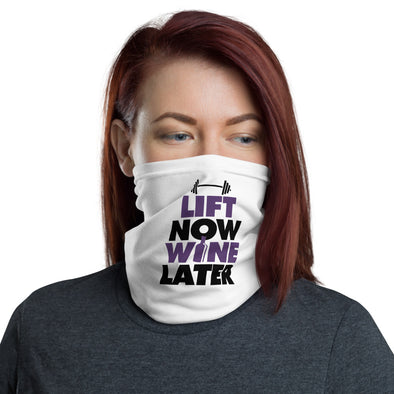 Lift Now Wine Later Neck Gaiter - Purple