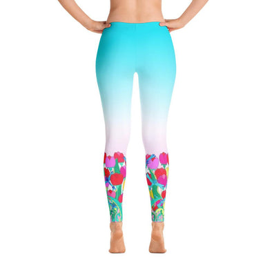 Tulips Polyester Spandex Leggings