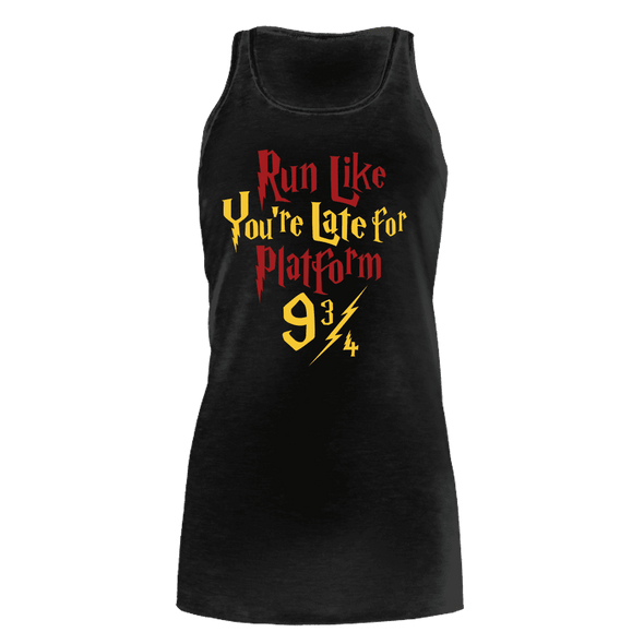 Run Like You're Late For Platform 9 3-4 - Womens Bella Flowy Tank