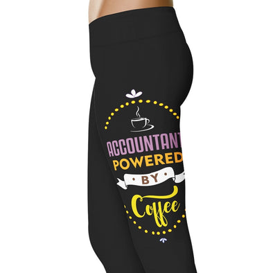 YouStatement Accountant Accountant Powered By Coffee - Accountant Leggings
