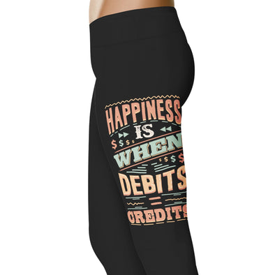YouStatement Accountant Happiness is When Debits Equal Credits - Accountant Leggings