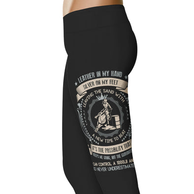 YouStatement Barrel Racing Leather In My Hand - Barrel Racing Leggings