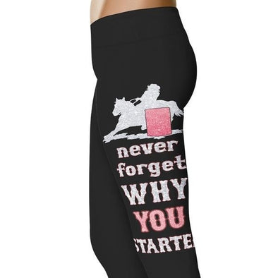 YouStatement Barrel Racing Sparkle Barrel Racer - Barrel Racing Leggings
