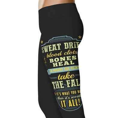 YouStatement Barrel Racing Sweat Dries, Blood Clots - Barrel Racing Leggings