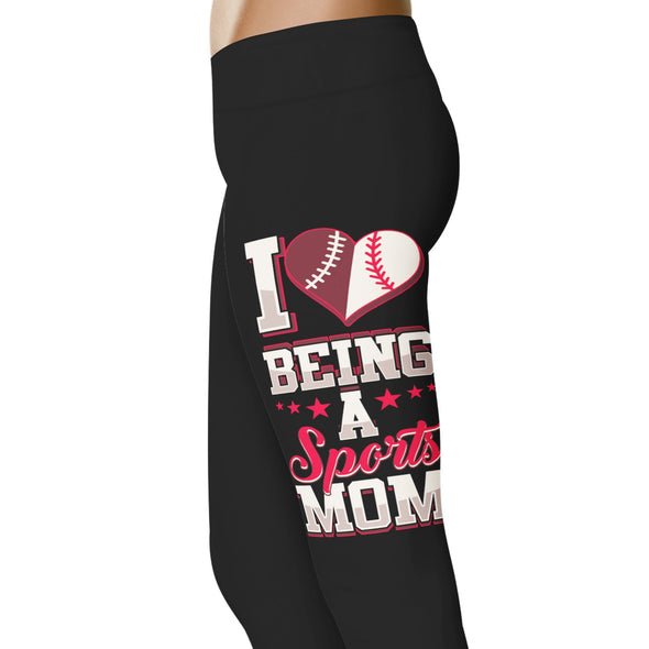 YouStatement Basketball I Love Being A Sports Mom - Basketball Leggings