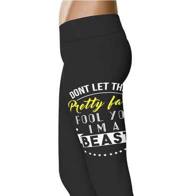 YouStatement Beauty or Beast? Don't Let The Pretty Face Fool You - Beauty or Beast Leggings
