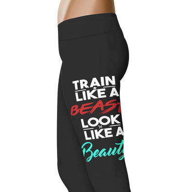 YouStatement Beauty or Beast? Train Like A Beast - Beauty or Beast Leggings