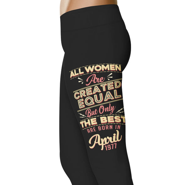 YouStatement Birth Month The Best Are Born In April 1977 - Birth Month Leggings