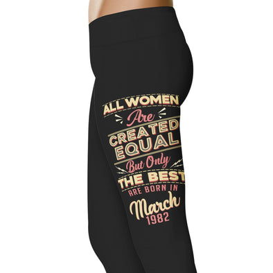 YouStatement Birth Month The Best Are Born In March 1982 - Birth Month Leggings