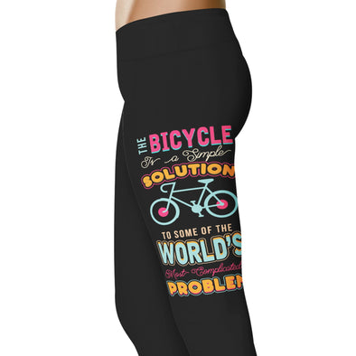 YouStatement Cycling A Simple Solution - Cycling Leggings