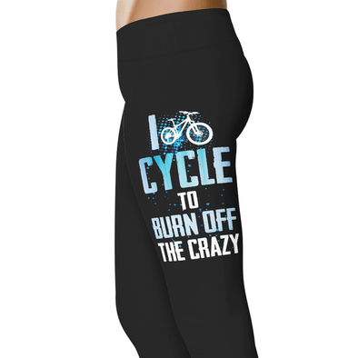 YouStatement Cycling I Cycle To Burn Off The Crazy - Cycling Leggings