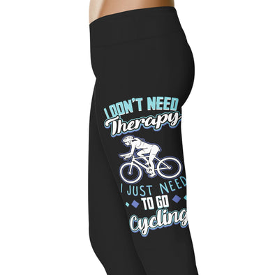 YouStatement Cycling I Don't Need Therapy - Cycling Leggings