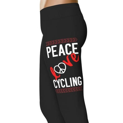 YouStatement Cycling Peace, Love Cycling - Cycling Leggings