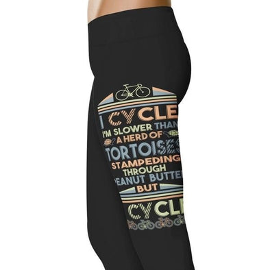 YouStatement Cycling Slower Than A Herd Of Tortoises - Cycling Leggings