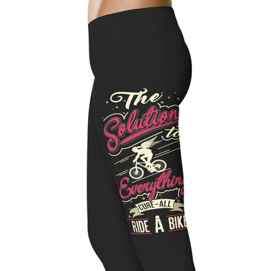 YouStatement Cycling The Solution To Everything - Cycling Leggings