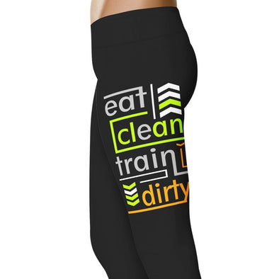YouStatement Fitness and Wit Eat Clean, Train Dirty - Fitness and Wit Leggings