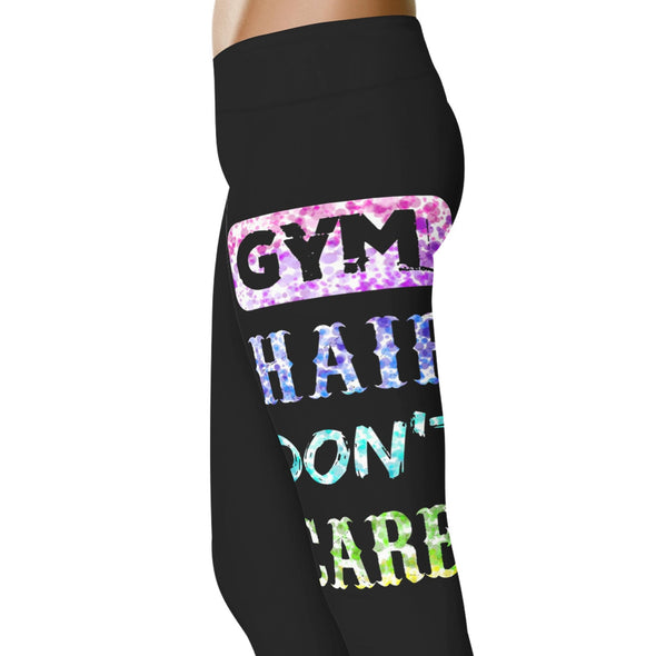 YouStatement Fitness and Wit Gym Hair Don't Care - Fitness and Wit Leggings