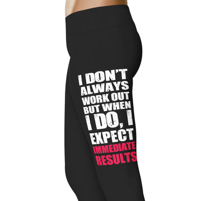 YouStatement Fitness and Wit I Don't Always Workout - Fitness and Wit Leggings