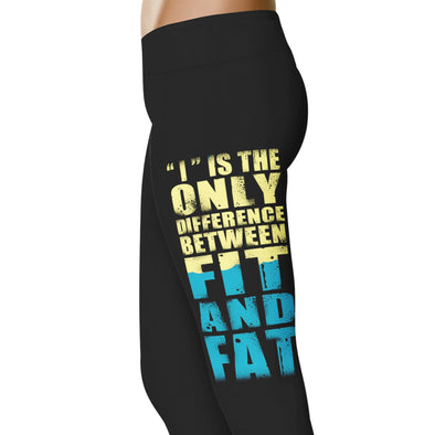 YouStatement Fitness and Wit I Is The Only Difference - Fitness and Wit Leggings
